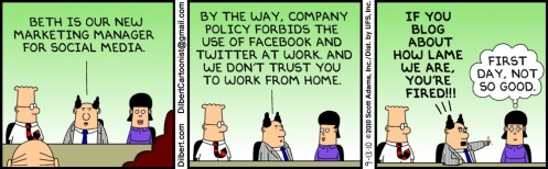 social media policy cartoon